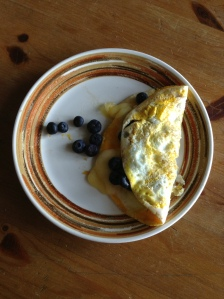 blueberry cheddar omelet
